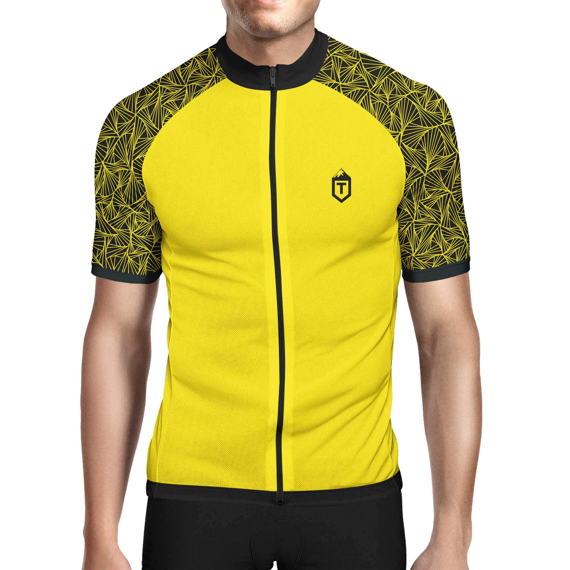 Triangles Jersey - Yellow / Black / Yellow - The Tempests Store