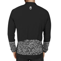 Triangles Long Sleeve Jersey - Black / White - The Tempests Store