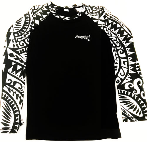 Rash Guard/Sun Shirt- Men's Samoan Village