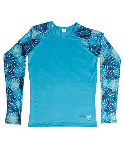 Rash Guard/Sun Shirt - Monstera Sleeve