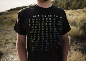 """I Am A Digital Genius"" Binary Tee"