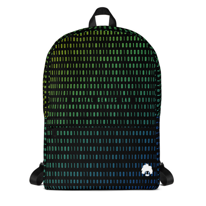 Hidden Genius Binary Print Backpack