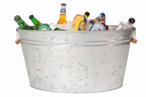 Galvanized Bucket With Ice