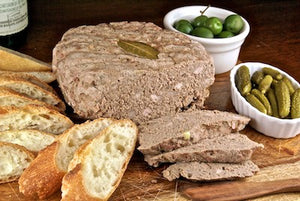 Pate with Cornichons and Crostini
