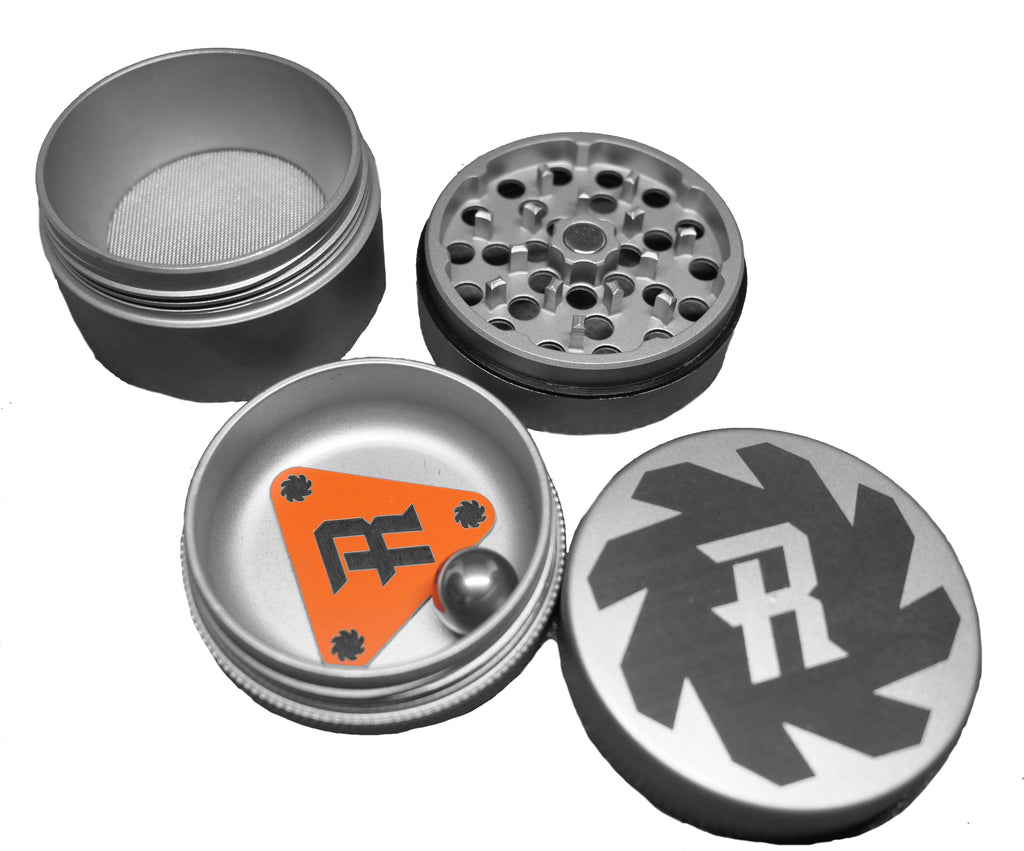 4 Piece Matte Finish Stainless Steel Grinder With FREE Course Medium Fine Screens