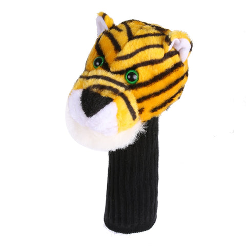 2017 New Breakage-proof Golf Club Headcover Plush Tiger Cartoon Bar Head Protection Covers Club-Making Products Golf Accessories