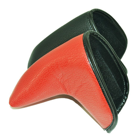 2018 Latest Golf Putter Club Protective Cap PU Leather Straight Golf Head Cover Black/Red 2Colors