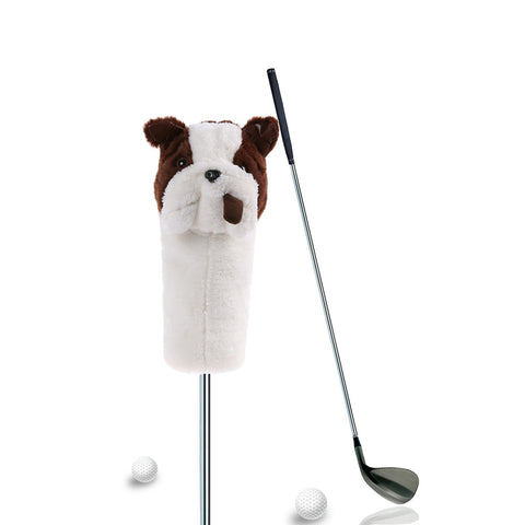 4 Styles Golf Headcover Plush Cute Cartoon Spotted Dog Fish Bar Golf Club Putter Head Cover Golfing Training Accessories