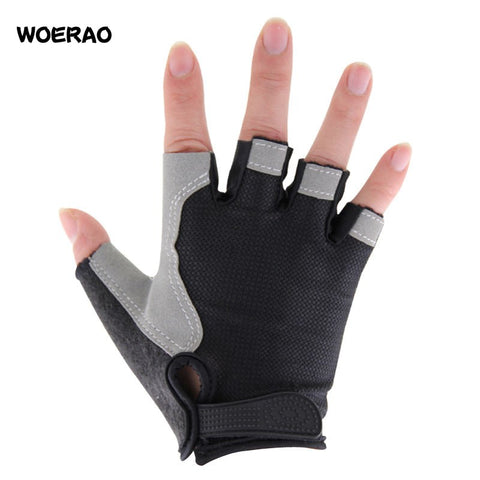 A Pair Women Professional Golf Half Finger Glove Breathable Blue Soft Fabric Golf Gloves Left Hand Super Fine Sports Gloves