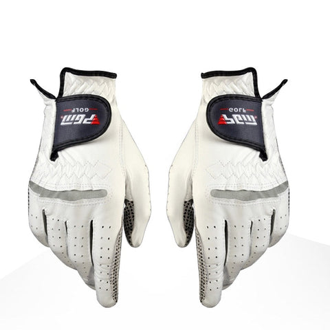 Anti-Slip Granules Golf Gloves Golf Men's Genuine Leather Golf Gloves Soft Breathable Pure Sheepskin Hot