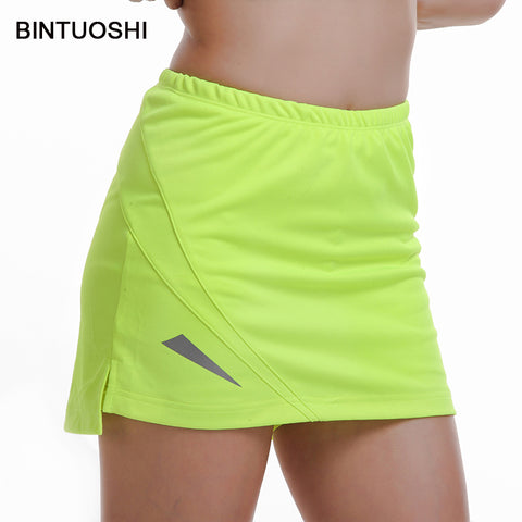 BINTUOSHI Womens Tennis Skorts Badminton Table Tennis Skirt High Waist Golf Training Sport Wear For Female