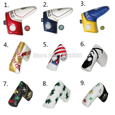 Craftsman Golf Putter Head Cover With Golf Ball Marker