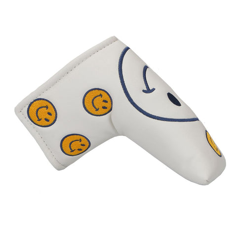 Golf clubs Putter Covers White Smile Face PU Blade Putter Head Cover free shipppping