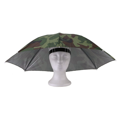 Portable Outdoor Sports 69cm Umbrella Hat Cap Folding Women Men Umbrella Fishing Hiking Golf Beach Headwear Handsfree Umbrella