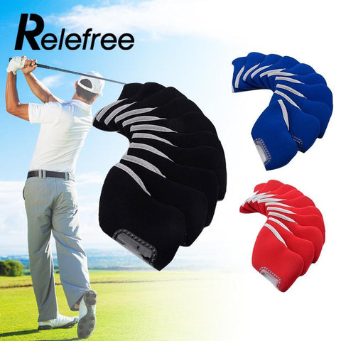 10 Pcs Neoprene Golf Club Iron Head Covers Protector Set