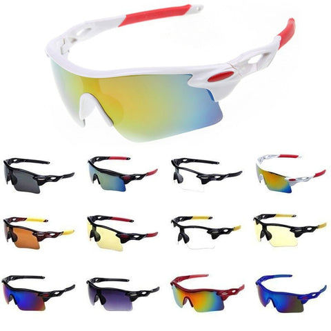 Sports Sunglasses for Men & Women Windproof UV400 Cycling Running Driving Fishing Golf Baseball Softball Hiking Glasses Eyewear