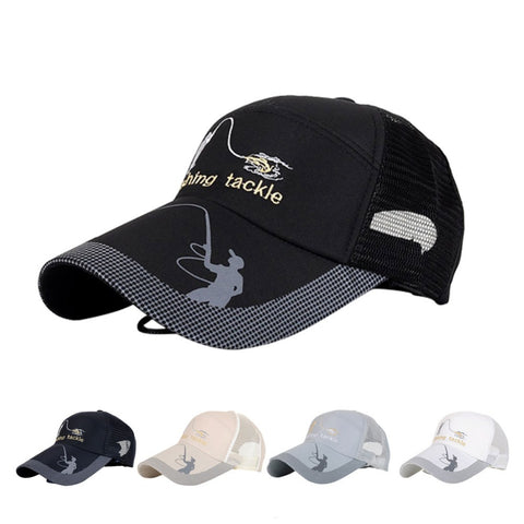 Unisex Men Women Adjustable Fishing Cap Snapback Golf Sports Hat Sun Visor
