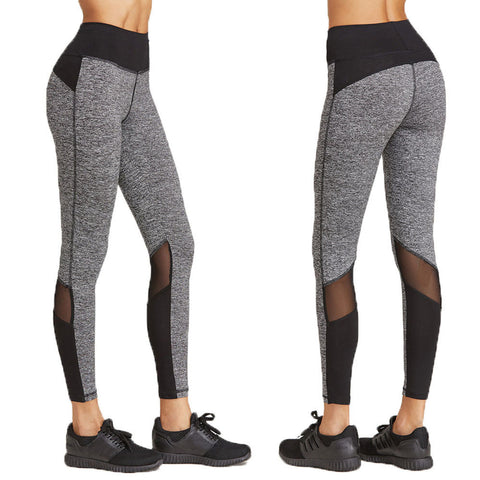 Grain Tone Patchwork Yoga Sports Fitness Gym Training Pants for Women