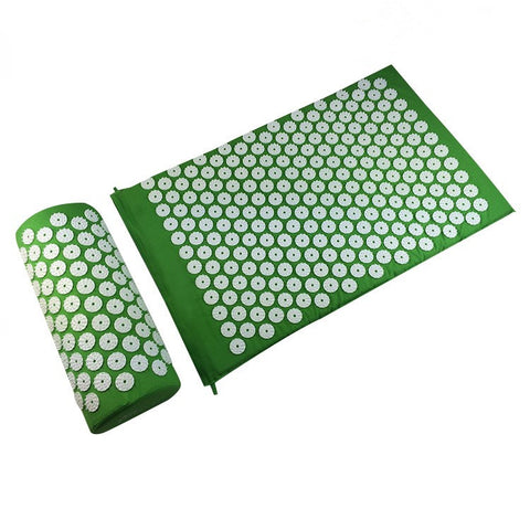 Shakti Massager Relieve Acupressure Cushion Body Spike Yoga Mat with Pillow