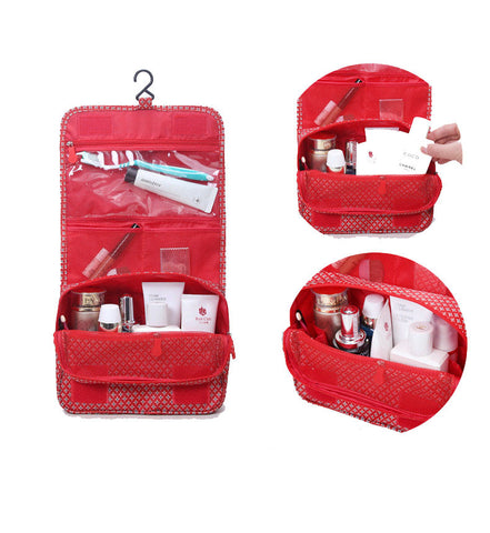 Multifunction Hanging Travel Cosmetic Organizer with Hook