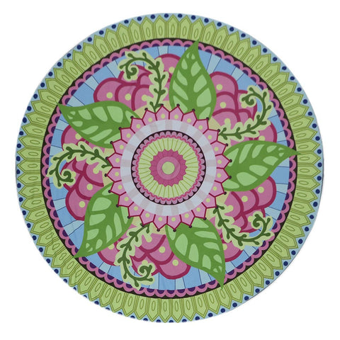 Round Beach Towel Yoga Picnic Blanket Bedspread Printed Beach Towel
