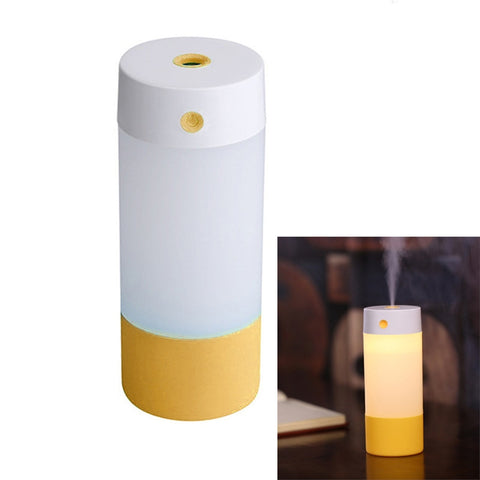 Mini Ultrasonic Air Humidifier with LED Nightlight Lamp