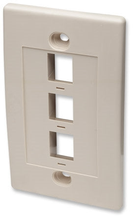 INTELLINET/Manhattan  162944 Wall Plate Flush Mount, Ivory, Stock# 162944