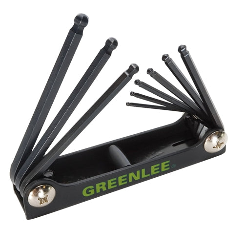 Greenlee WRENCH,HEX-KEY BALL-END 9 PC ~ Cat #: 0254-12