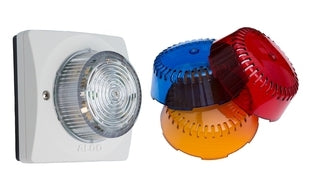 ALGO 8128ABR SIP LED Strobe-Amber/Blue/Red (purchase separate lens covers), ~ Stock# X128+8128~ NEW