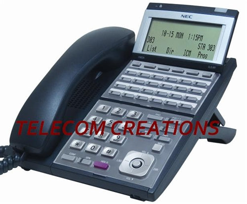 NEC IP-24e  IP 24-Button Display Phone  Black   Part# 0910068  IP3NA-24TIXH  Refurbished