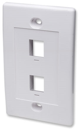 INTELLINET/Manhattan 163293 Wall Plate Flush Mount, White, Stock# 163293