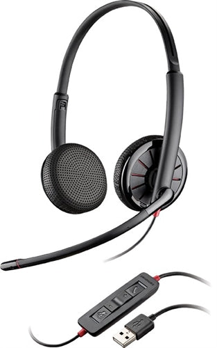 Plantronics Blackwire C325-M, Over-The-Head [Binaural] USB Headset, Microsoft Version ~ Stock# 200263-01 ~ NEW