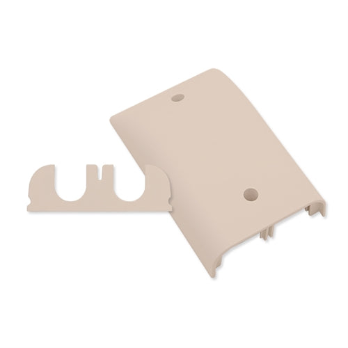 Suttle 2-6503-52 Single gang downward oriented faceplate with CablePass feed-through insert - Elec Ivory, Stock# 2-6503-52