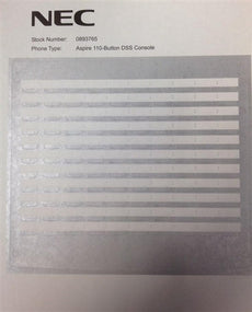 DESI Laser Labels for the Aspire 110 Button DSS Console Stock # 0890051 Stock# 0893765 Silver