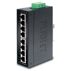 PLANET ISW-801T IP30 Slim Type 8-Port Industrial Fast Ethernet Switch (-40 to 75 degree C), Stock# ISW-801T