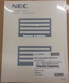 NEC DESI Laser Labels for the ITZ-12D / DTZ-12D & ITZ-24D / DTZ-24D Stock# 660122 Part# Q24-FR000000107278  - NEW