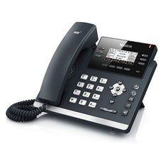 Yealink SIP-T41P ~ 3 line Ultra Elegant IP Desk Phone w/ (9-Port POE Switch, 8 POE Ports, 8 Extra Coil Cords)  ~ NEW