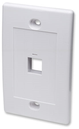 INTELLINET/Manhattan 163286 Wall Plate Flush Mount, White, Stock# 163286