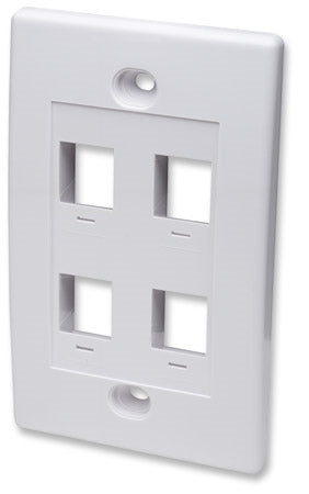 INTELLINET/Manhattan  163316 all Plate Flush Mount, White, Stock# 163316