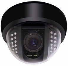 Speco CVC648IRHQ High Resolution Color Indoor Dome Cameras with Built-In IR 3.6mm lens - Black Housing, Stock# CVC648IRHQ