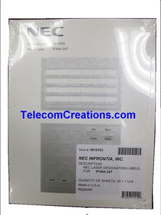 NEC DESI Laser Labels for the IP-24e & DG-24e Phones 0910048 IP3NA-24TXH & 0910068 IP3NA-24TIXH 0910703 DESI IP3NA-24