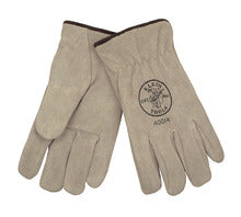 Klein Tools Suede Cowhide Driver's Gloves - Lined, Part# 60114-9