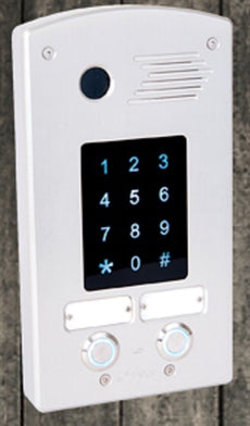 TADOR KX-T918-AVL-Touch-2P - 2 Button Door Phone For Analog PBX Extension, Weather Resistance, Anti Vandal, Anodize, Very Durable Water Proof. Stock# KX-T918-AVL-Touch-2P NEW