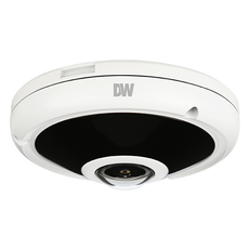 Digital Watchdog 9MP 360°/180° fisheye low-profile vandal dome IP camera, Part# DWC-PVF9M2TIR