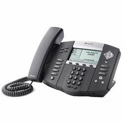 Polycom 2200-12550-001 SoundPoint IP 550 4-Line SIP Desktop Phone with Power Supply and HD Voice, Stock# 2200-12550-001