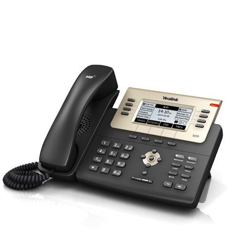 Yealink SIP-T27P Enterprise HD IP Phone w/ (9-Port POE Switch, 8 POE Ports, 8 Extra Coil Cords), Stock# SIP-T27P  NEW