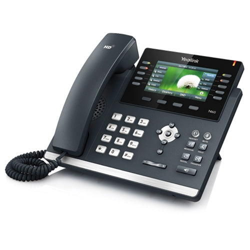 Yealink ~ Ultra-elegant Gigabit Color Bluetooth HD Voice  IP Phone ~ Stock# SIP-T46G ~ NEW