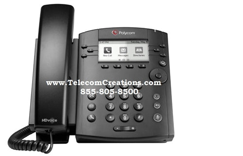 Polycom VVX-300 - 6-line Desktop Phone POE ~ Stock# 2200-46135-025 ~ NEW