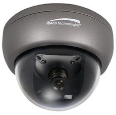 SPECO HINT13D7G  INT3 Color Mini Tamperproof Dome w/ Chameleon Cover 3.6mm Lens, Wall/Ceiling Mount, Dual Voltage, Stock# HINT13D7G