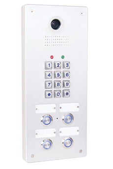 Tador CodePhone KX-T918-AVL-4PL 4 Buttons Door Phone for Analog PBX Extension, Weather Resistance, Anti Vandal, Anodize, Water Proof. Stock# KX-T918-AVL 4PL ~ NEW